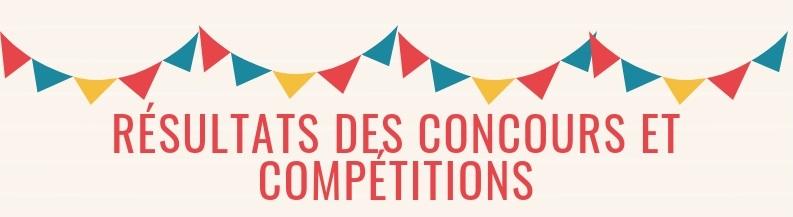 Resultats des concours et competitions